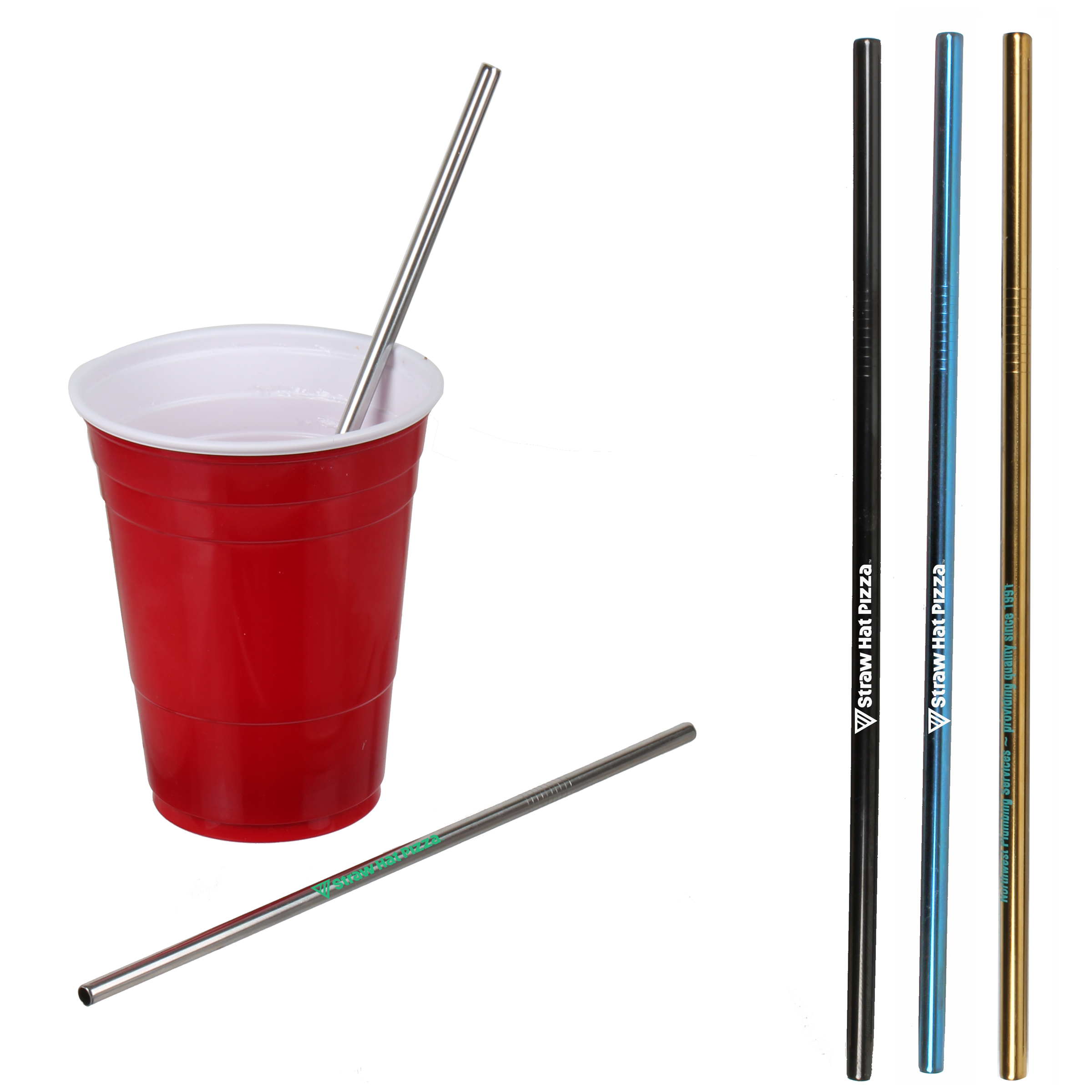 Stainless Steel Colored Straw
