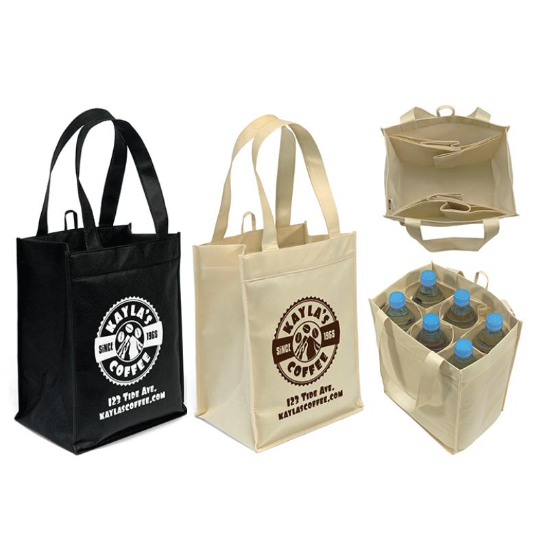 Promo Transforming Wine Amp Grocery Tote Bag