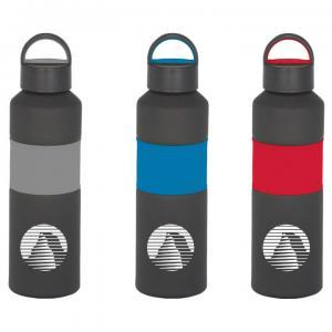 25 oz. Matte Black Rubberized Grip Sports Bottle
