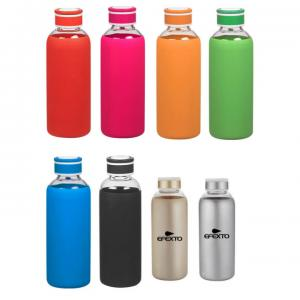 20 oz. Glass Bottle with Protective Silicone Sleeve