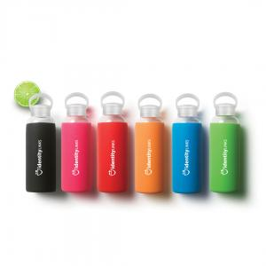 20 oz. Easy Carry Glass Bottle with Silicone Sleeve