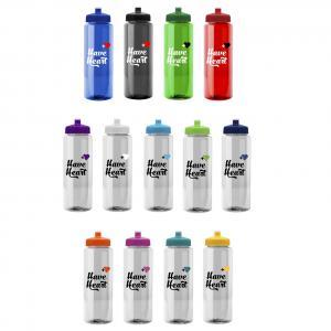 32 oz. Transparent Push Pull Cap Water Bottle