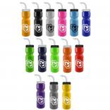 28 oz. Colored Sports Bottle Straw Lid