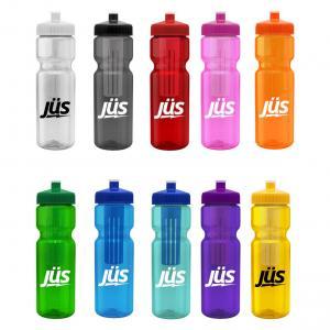 28 oz. Transparent Infuser Water Bottle Push Pull Lid