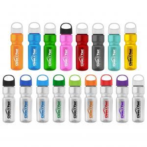 28 oz. Transparent Water Bottle Oval Crest Lid
