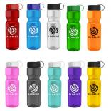 28 oz. Transparent Water Bottle Tethered Lid
