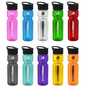 28 oz. Transparent Water Bottle Pop-up Sip Lid