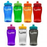 18 oz. Transparent Jr. Bottle Push Pull Lid