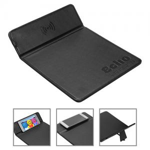 Wireless Charger Mouse Pad with Kickstand