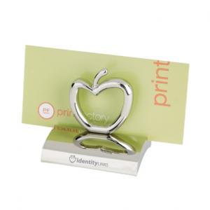 Promotional chrome apple shaped business card holder colourmoves
