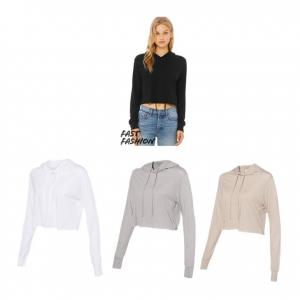 BELLA + CANVAS - Fast Fashion Women's Triblend Cropped Long Sleeve Hoodie