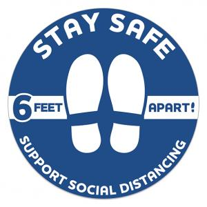 Vinyl Circle Stay Safe Floor Decal