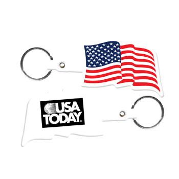 American Flag Key Tag