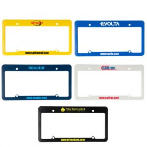 License Plate Frame with Straight Top