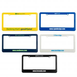 License Plate Frames - 2 Hole Top