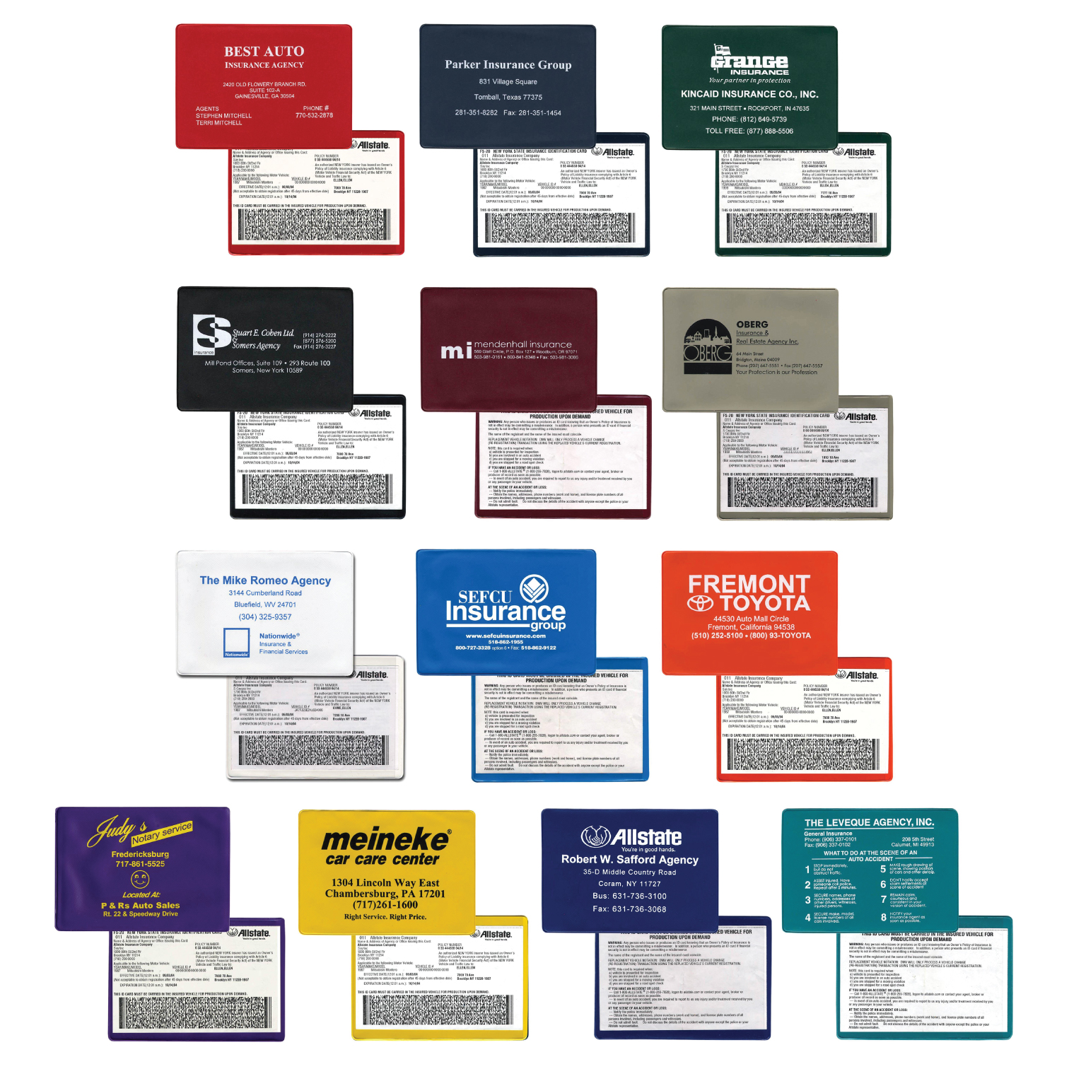 Wallet Size Insurance Holder