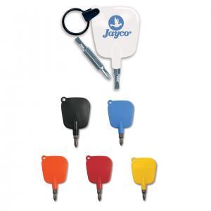 Mini Reversible Head Screwdriver Key Tag