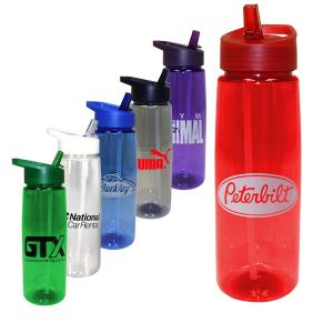 30 oz Poly-Saver PET Bottle with Straw Cap