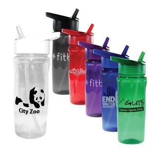 18 oz Poly-Saver PET Bottle with Straw Cap