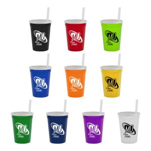 12 oz. Stadium Cup with Straw & Lid