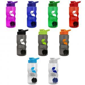 22 oz Shaker Bottle With Drink Thru Lid