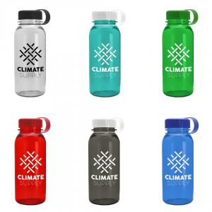 18 oz Tritan Sports Bottle With Tethered Lid