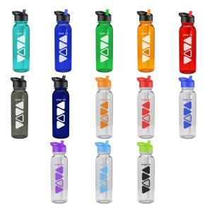 24 Oz Tritan Sports Bottle Flip Straw Lid
