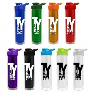 16 oz. Double Wall Insulated Bottle Drink Thru Lid