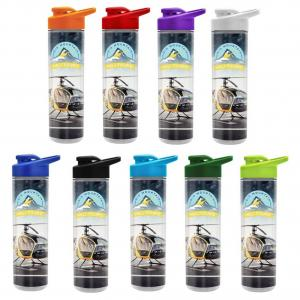 16 oz. Full Color Double Wall Insulated Bottle Drink Thru Lid