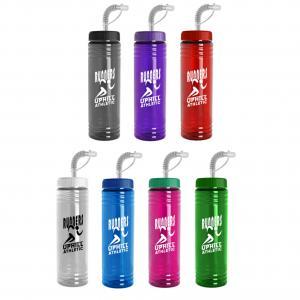 24 oz. Slim Water Bottle Straw Lid