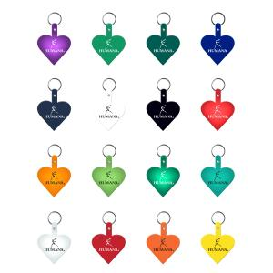 Heart Shaped Flexible Key Tag
