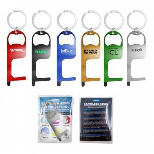 Stainless Steel Germ Key Stylus Bottle Opener