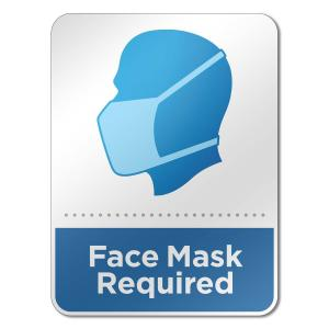 "6"" x 8"" Face Mask Wall Sign"