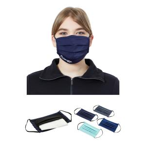 Pleated Face Mask With Filter Pocket