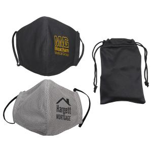 Microfiber Cooling Mask with Travel Pouch