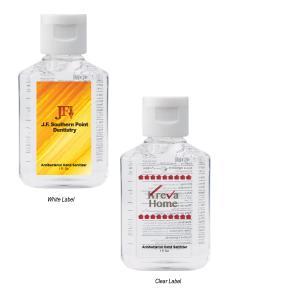 1 oz Unscented Hand Sanitizer Square Bottle