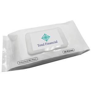 50 Ct. Antibacterial Wet Wipes