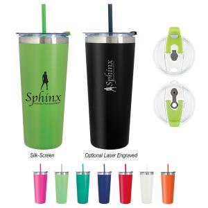 22 oz. Powder Coated Stainless Steel Tumbler