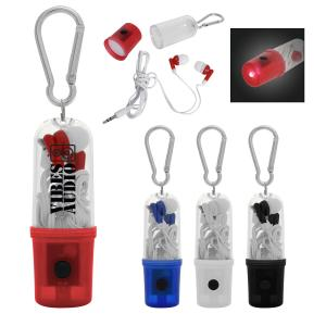 Earbuds With Flashlight Case