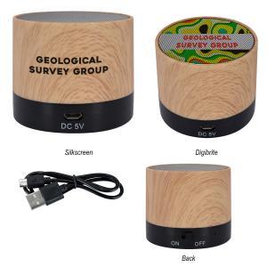 Wood Grain Wireless Speaker