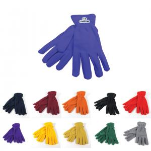 Fleece Gloves With Woven Patch