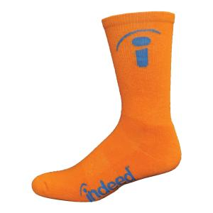 Performance Cotton Crew Sock with Knit-In Logo