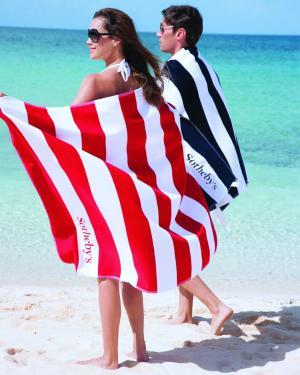 Horizontal Striped Identity Signature 21Lb./Doz.  Beach Towel