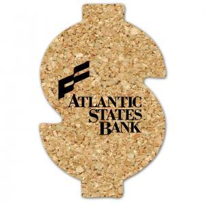 Large Dollar Sign Shaped Cork Coaster