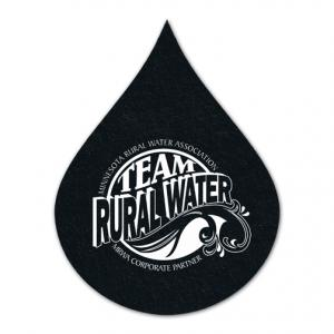 Water Drop Shaped Recycled Rubber Coaster