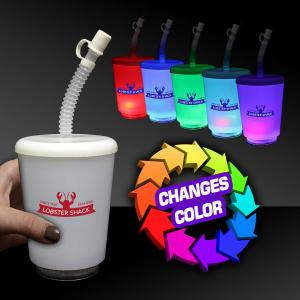 12 oz Light Up Cup with Lid and Straw