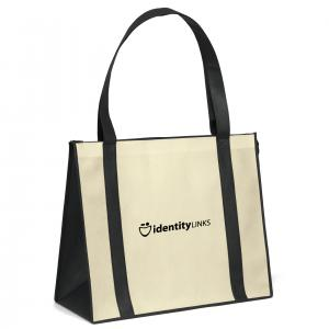 Zippered Natural Color Poly Tote
