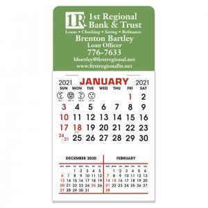 3 Month Adhesive Calendar Pad