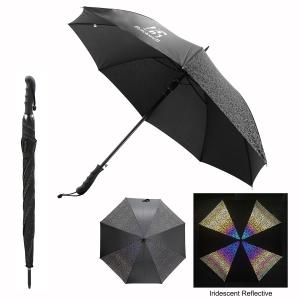 "46"" Arc Reflective Iridescence Umbrella"