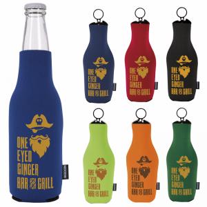 Neoprene Zip-Up Bottle KOOZIE Kooler